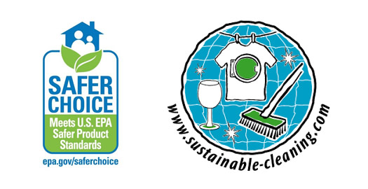 "En DALDENT usamos limpiadores biodegradables y con certificaciones europea ""SUSTAINABLE CLEANING""y norteamericana ""SAFE CHOICE"" que garantizan su biodegradabilidad."
